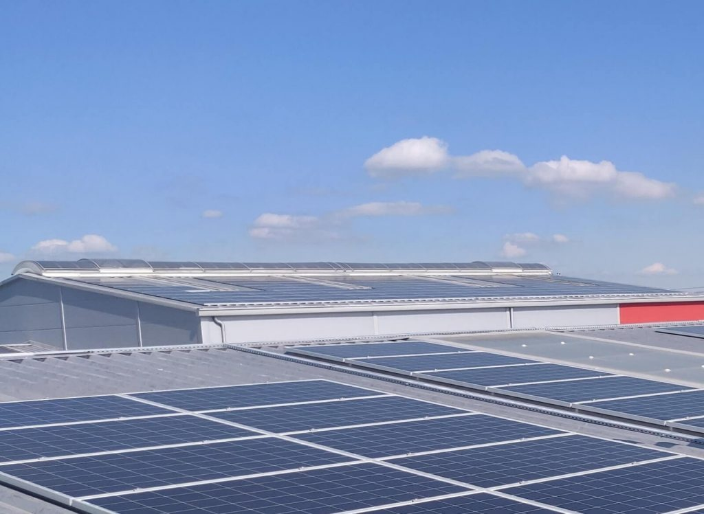napelem, Ipari csarnok- Szigetszentmiklós-120 kWp (1)